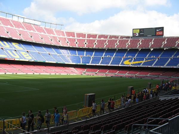 Fotbalový stadion Camp Nou, Barcelona, zdroj: vlastní archív