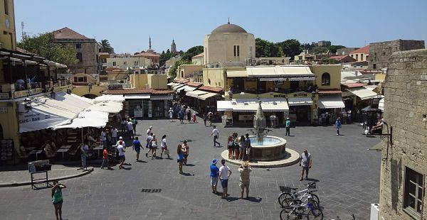 Rhodos - trhy, náměstí